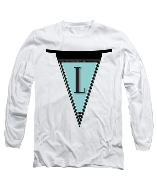 Pennant Deco Blues Banner Initial Letter L Long Sleeve T-Shirt