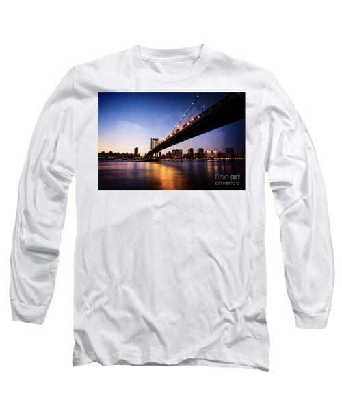 Long Sleeve T-Shirt featuring the photograph Manhattan Bridge by Scott Kemper