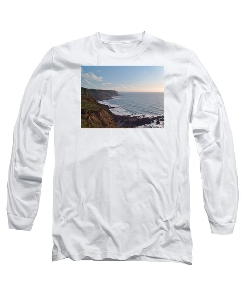Mansley Cliff And Gull Rock From Longpeak Long Sleeve T-Shirt