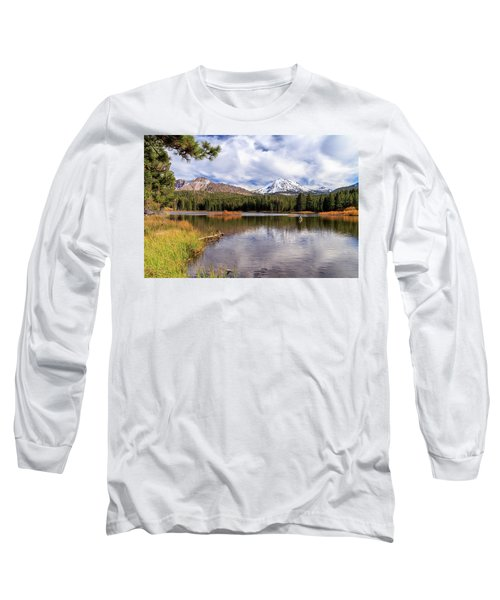 Long Sleeve T-Shirt featuring the photograph Manzanita Lake - Mount Lassen by James Eddy