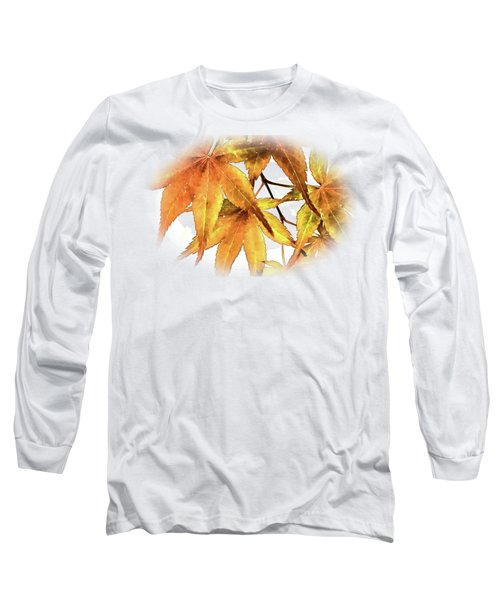 Maple Leaves Long Sleeve T-Shirt by Barry Jones