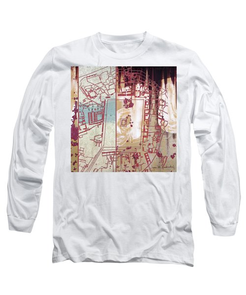 Maps #27 Long Sleeve T-Shirt by Joan Ladendorf