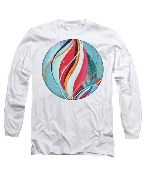 Long Sleeve T-Shirt featuring the painting Marble by Jutta Maria Pusl