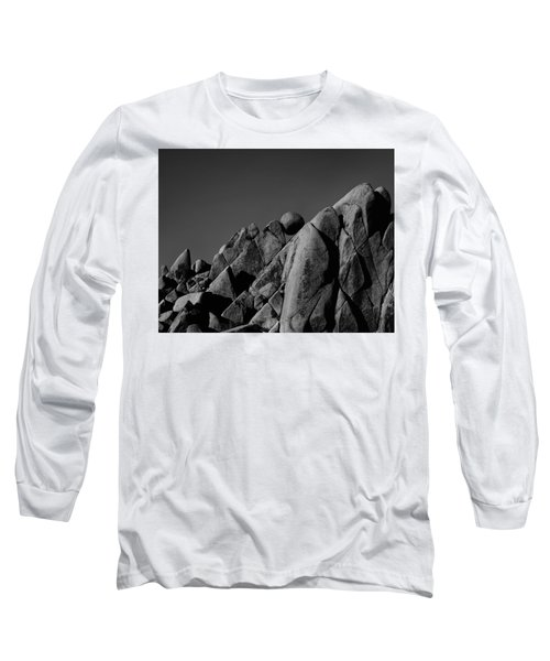 Marble Rock Formation B And W Version Long Sleeve T-Shirt