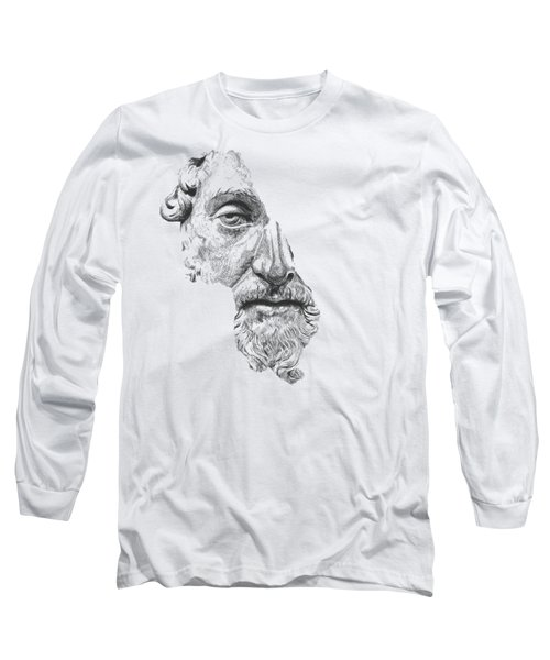 Marcus Aurelius Antoninus Augustus / Black And White Long Sleeve T-Shirt