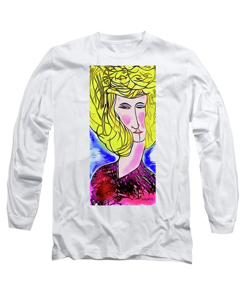 Maria Long Sleeve T-Shirt by Ted Azriel