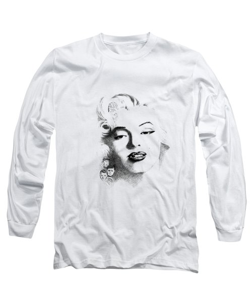 Marilyn  Long Sleeve T-Shirt by John Barnard