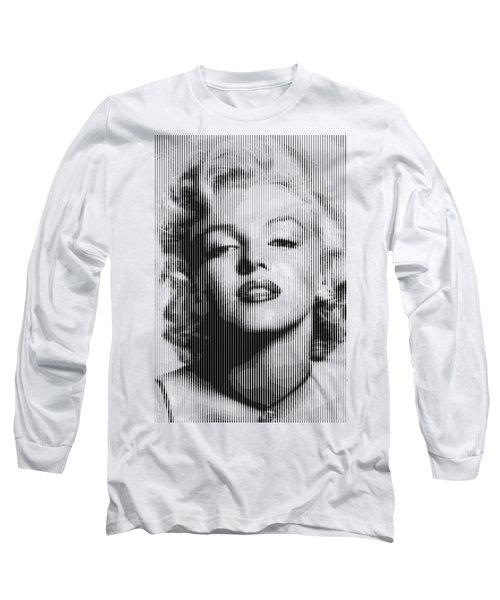 Marilyn Monroe - Bw Verticals  Long Sleeve T-Shirt