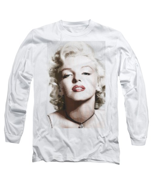 Marilyn Monroe - Colored Verticals Long Sleeve T-Shirt by Samuel Majcen