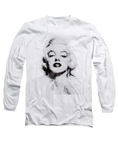 Marilyn Monroe Portrait 02 Long Sleeve T-Shirt by Pablo Romero