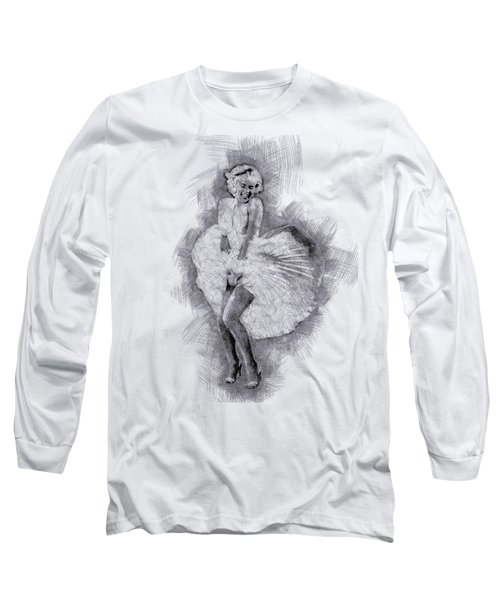 Marilyn Monroe Portrait 03 Long Sleeve T-Shirt