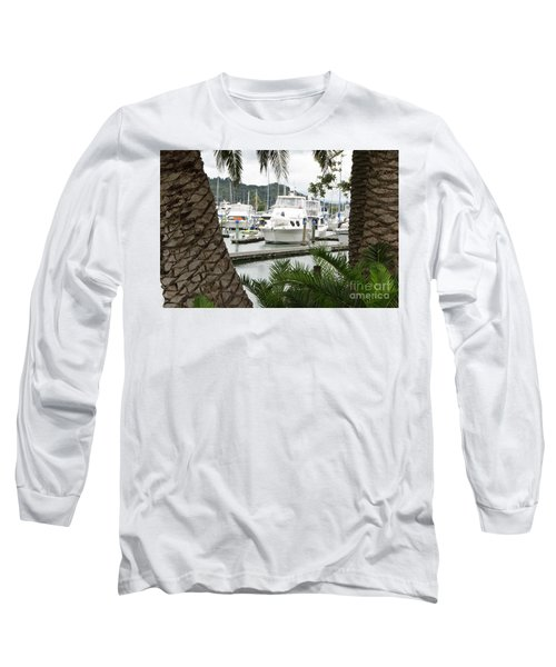 Long Sleeve T-Shirt featuring the photograph Marina View by Yurix Sardinelly