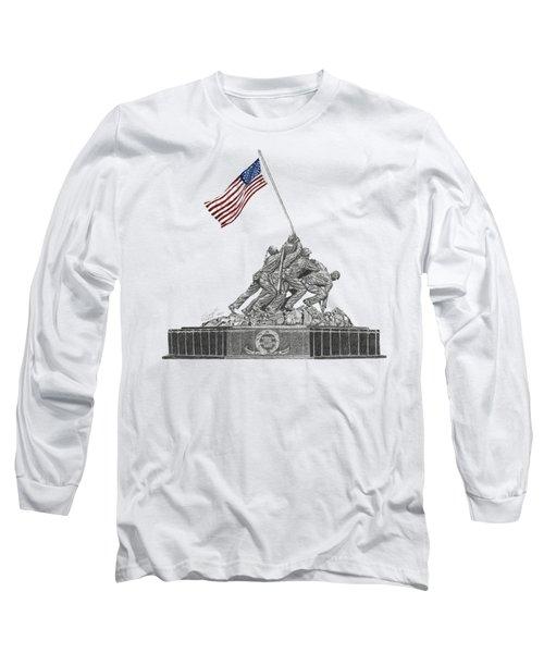 Marine Corps War Memorial - Iwo Jima Long Sleeve T-Shirt