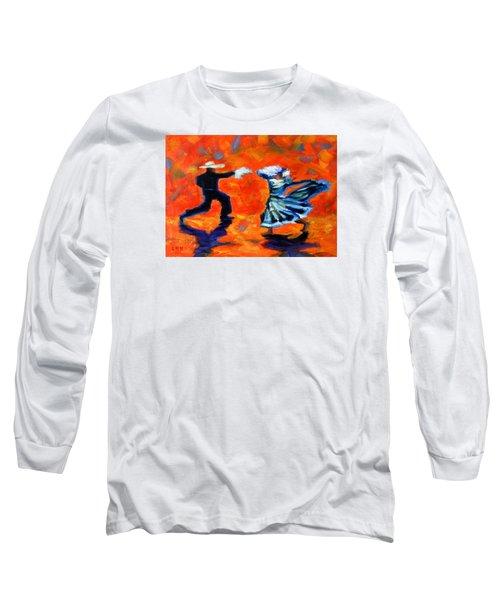 Marinera Nortenia Red, Peru Impression Long Sleeve T-Shirt