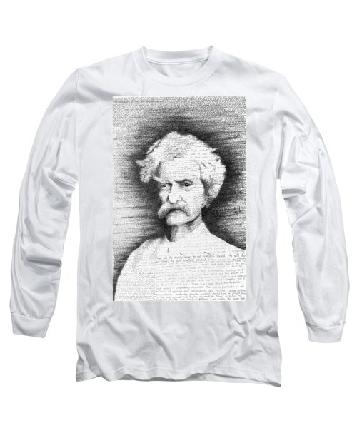 Mark Twain In His Own Words Long Sleeve T-Shirt by Phil Vance
