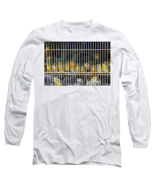 Market Finches Long Sleeve T-Shirt