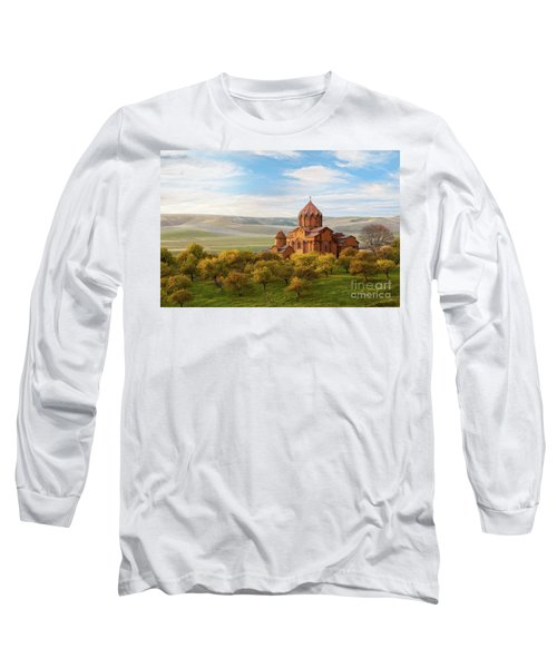 Marmashen Monastery Surrounded By Yellow Trees At Autumn, Armeni Long Sleeve T-Shirt