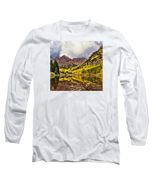 Maroon Bells Lake Long Sleeve T-Shirt