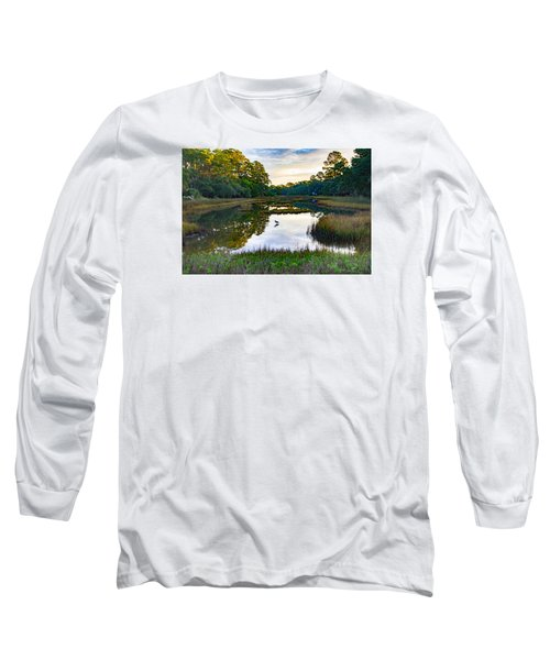 Long Sleeve T-Shirt featuring the photograph Marsh In The Morning by Patricia Schaefer