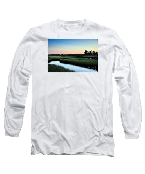 Marsh Sunset Long Sleeve T-Shirt by Debbie Green