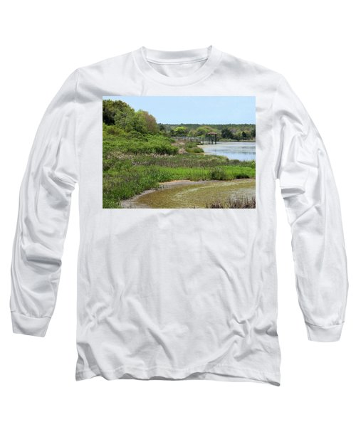 Long Sleeve T-Shirt featuring the photograph Marshlands by Cathy Harper