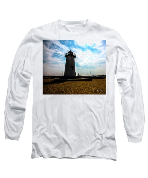 Long Sleeve T-Shirt featuring the photograph Martha's Vineyard Lighthouse - Massachusetts by Madeline Ellis