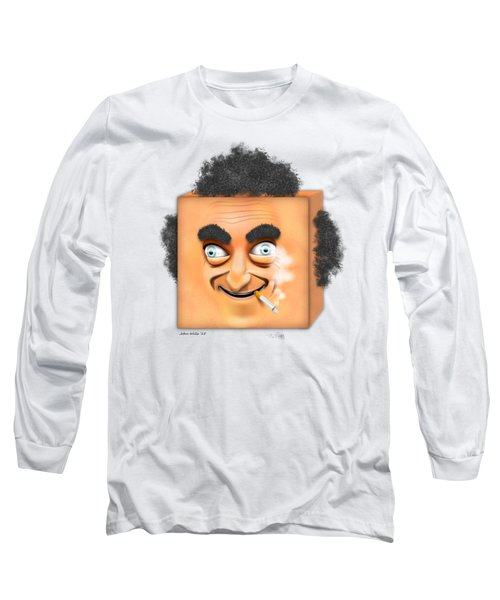 Long Sleeve T-Shirt featuring the digital art Marty Feldman Caricature by John Wills