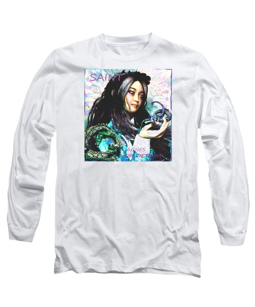 Long Sleeve T-Shirt featuring the painting Martyr Of Vietnam Saint Agnes Le Thi Thanh by Suzanne Silvir