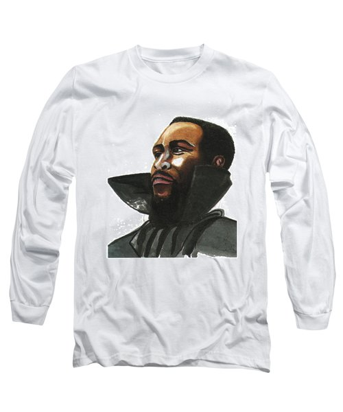 Marvin Gaye Long Sleeve T-Shirt by Emmanuel Baliyanga