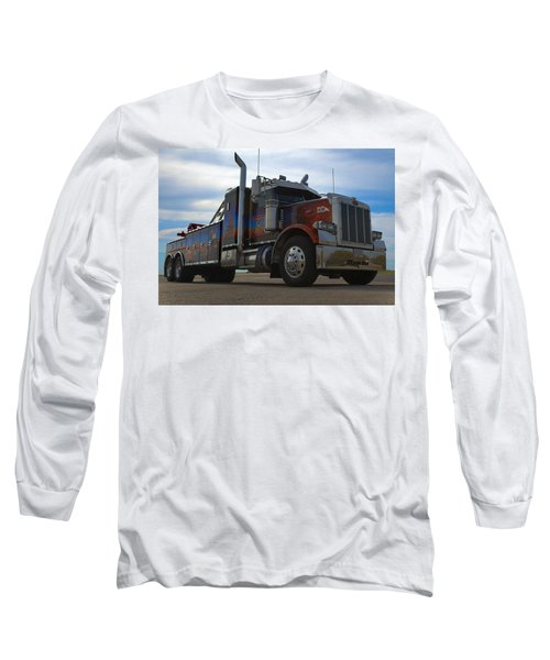 Long Sleeve T-Shirt featuring the photograph Marvins Big Rig Cars Movie Tribute Tow Truck by Tim McCullough