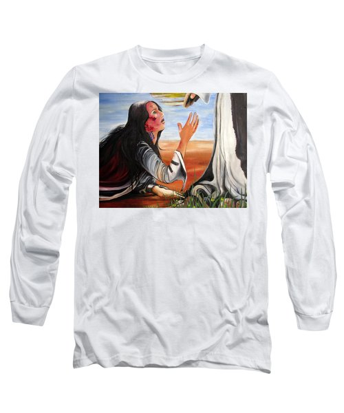 Mary Magdalene Long Sleeve T-Shirt by Mary Ellen Frazee