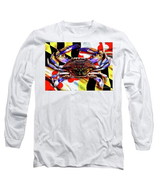 Maryland Blue Crab Long Sleeve T-Shirt
