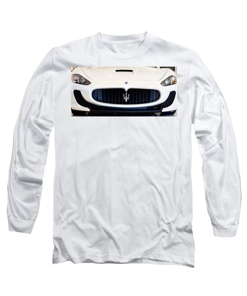 Maserati White Pano 121715 Long Sleeve T-Shirt