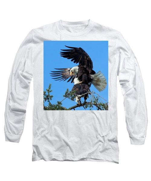 Mating Ritual Long Sleeve T-Shirt by Sheldon Bilsker