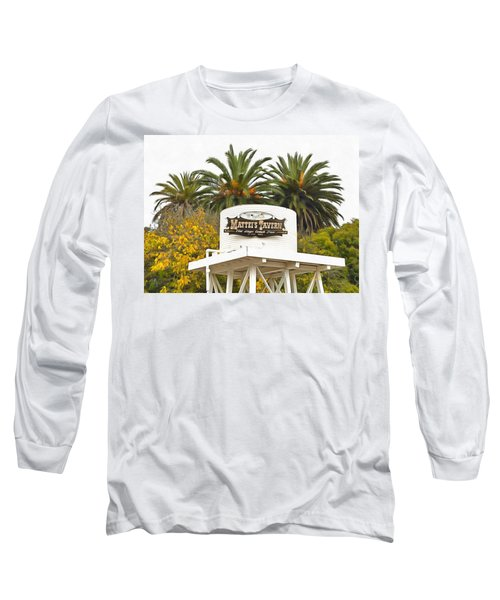 Long Sleeve T-Shirt featuring the photograph Matties Tavern Los Olivos California by Floyd Snyder