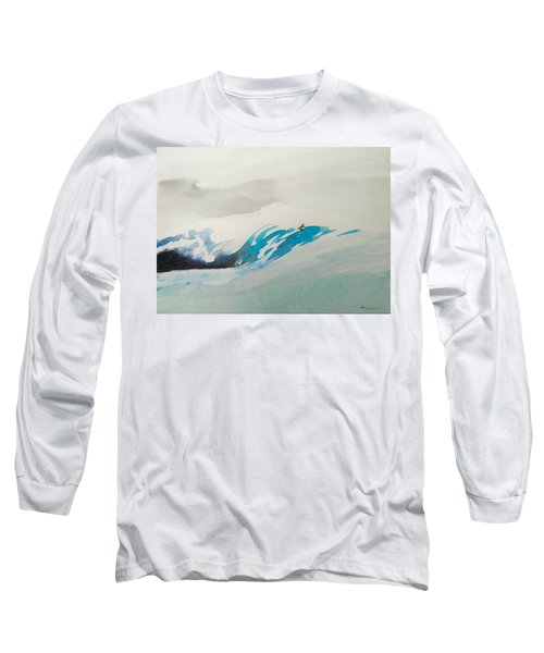 Long Sleeve T-Shirt featuring the painting Mavericks by Ed Heaton