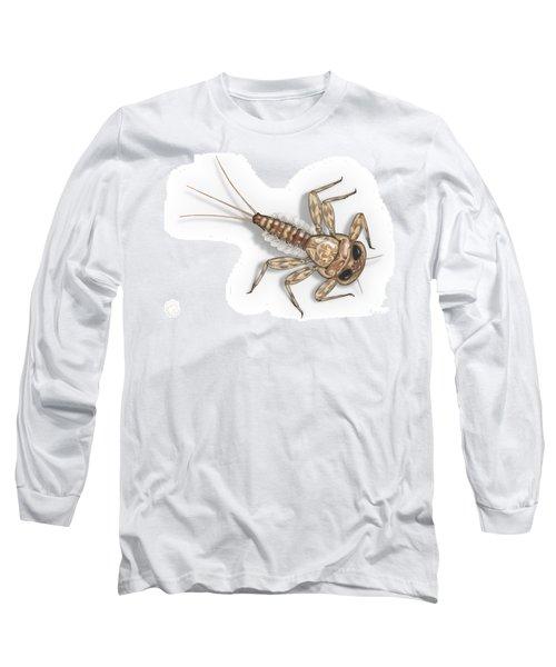 Mayfly Larva Nymph Rithorgena Ecdyonurus Venosus - Moscas De May Long Sleeve T-Shirt