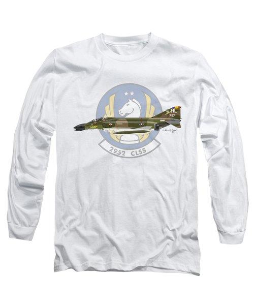 Mcdonnell Douglas F-4d Phantom II Hill Long Sleeve T-Shirt by Arthur Eggers