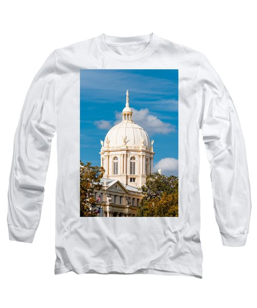 Mclennan County Courthouse Dome By J. Reily Gordon - Waco Central Texas Long Sleeve T-Shirt
