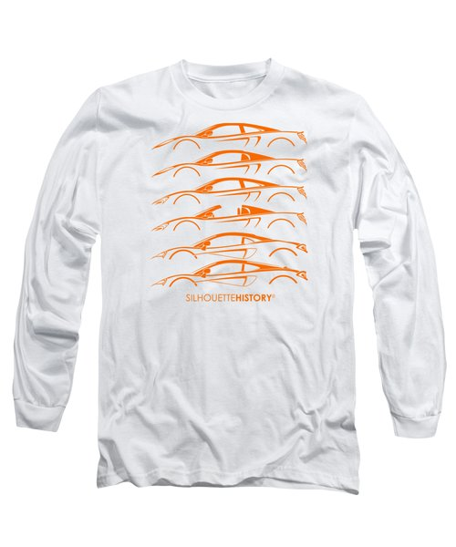 Mcsportscar Silhouettehistory Long Sleeve T-Shirt by Gabor Vida