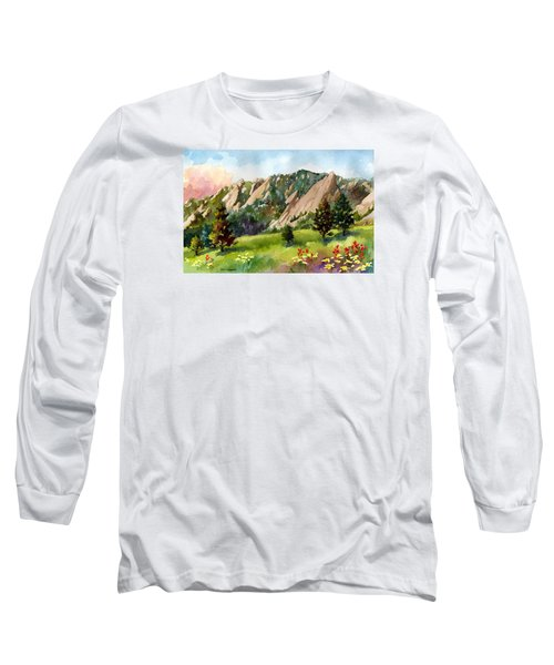 Meadow At Chautauqua Long Sleeve T-Shirt by Anne Gifford