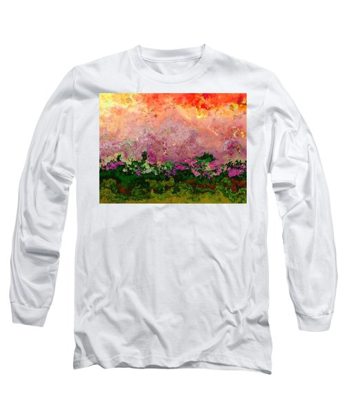 Long Sleeve T-Shirt featuring the digital art Meadow Morning by Wendy J St Christopher