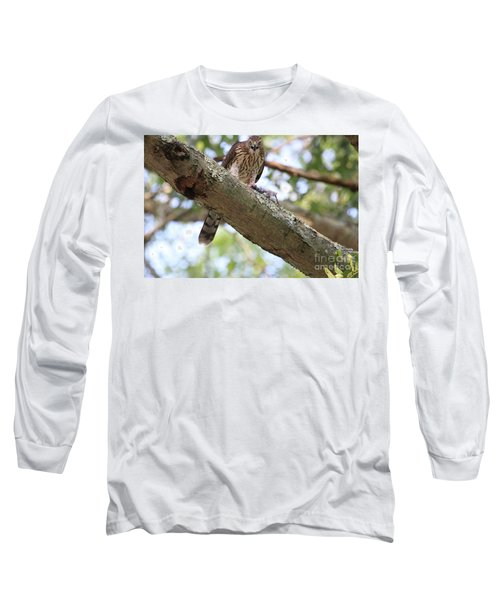 Mean Hawk At Dinner Time Long Sleeve T-Shirt