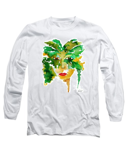 Medeina Goddess Of The Woodland Forest Long Sleeve T-Shirt