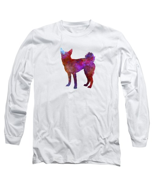 Medium Griffon Vendeen In Watercolor Long Sleeve T-Shirt by Pablo Romero