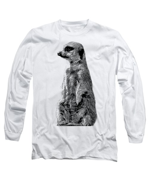 Meerkat Etching Long Sleeve T-Shirt