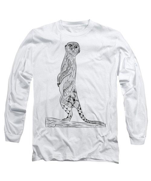 Meerkat Long Sleeve T-Shirt by Serkes Panda