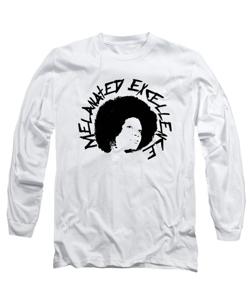 Long Sleeve T-Shirt featuring the painting Melanated Excellence I by Alkebulan
