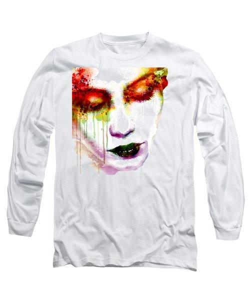 Melancholy In Watercolor Long Sleeve T-Shirt