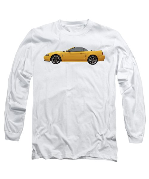 Long Sleeve T-Shirt featuring the photograph Mellow Yellow 1999 Mustang  by Gill Billington